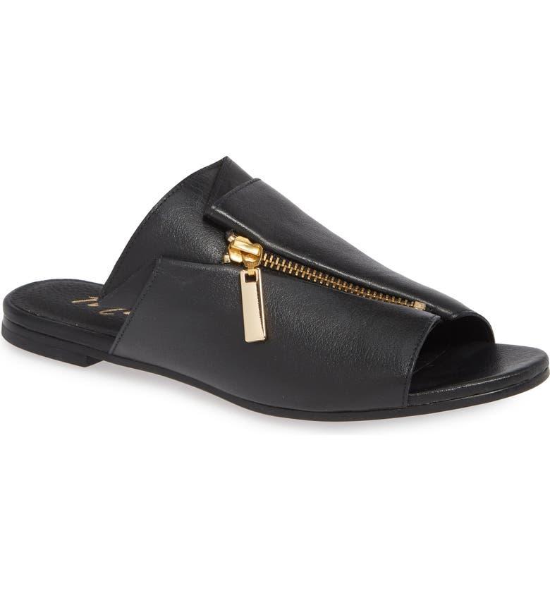 MATISSE Tai Slide Sandal, Main, color, BLACK