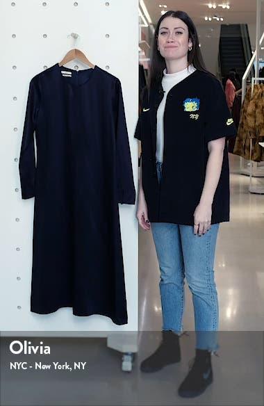 Long Sleeve Satin Midi Dress, sales video thumbnail