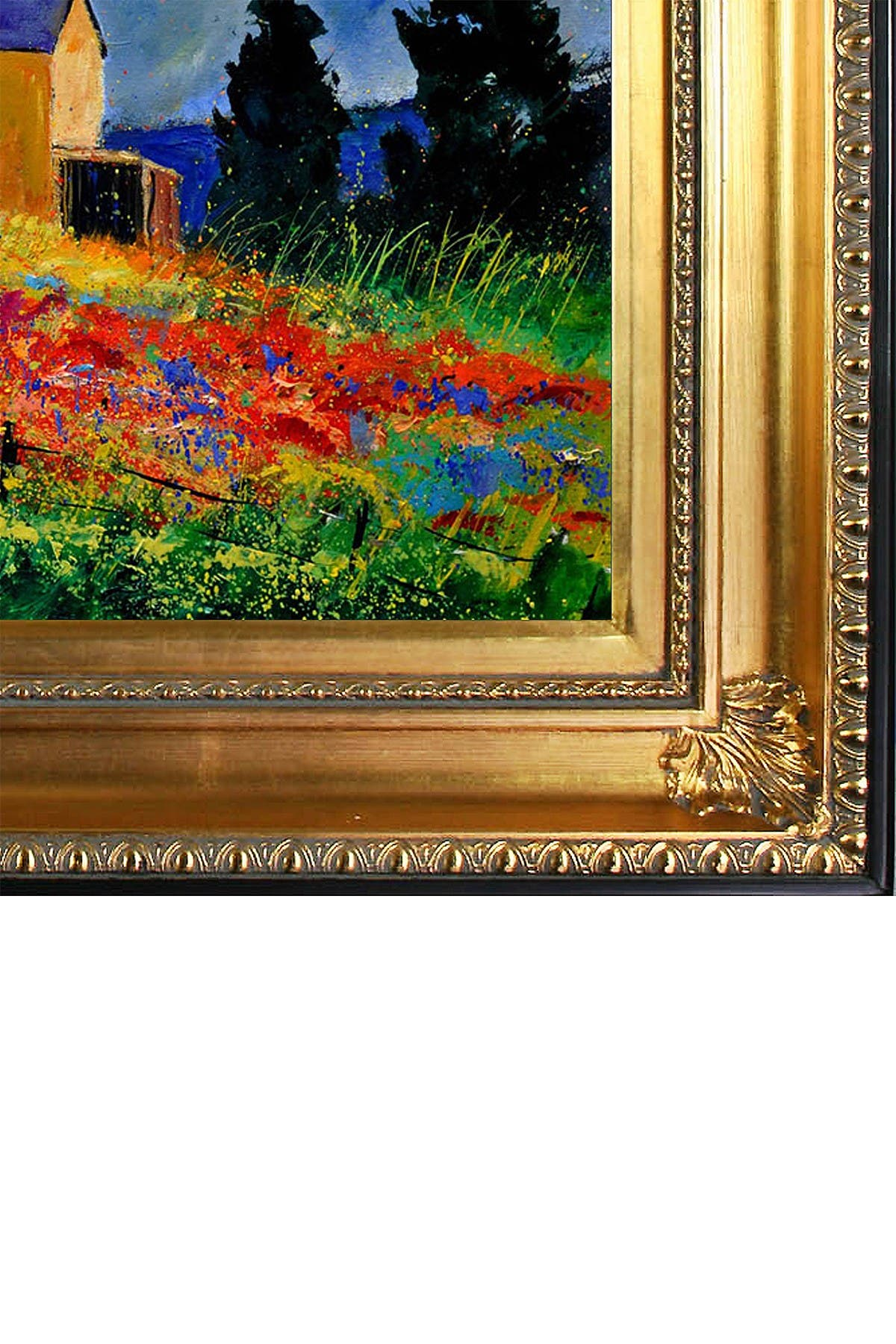 """Image of Overstock Art Red poppies in Houroy with Regency Gold Frame - 28.5"""" x 32.5"""""""