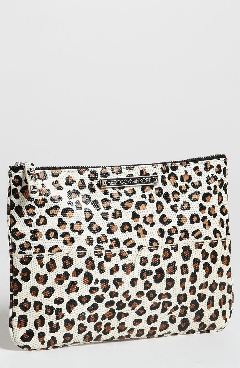 REBECCA MINKOFF 'Kerry Cheetah' Print Pouch, Main, color, 210