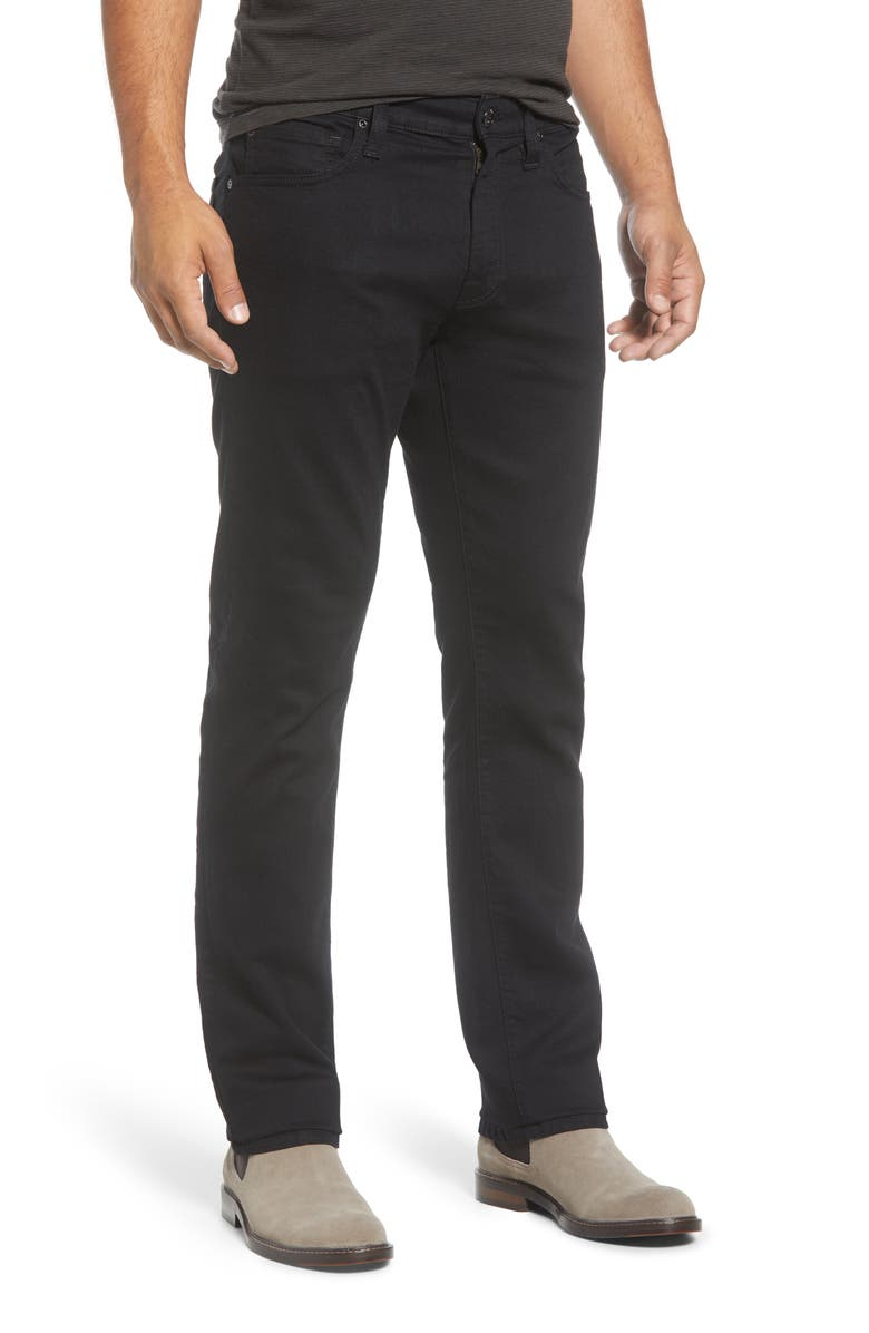 AGAVE Classic Five Pocket Twill Pants, Main, color, TRIPLE BLACK