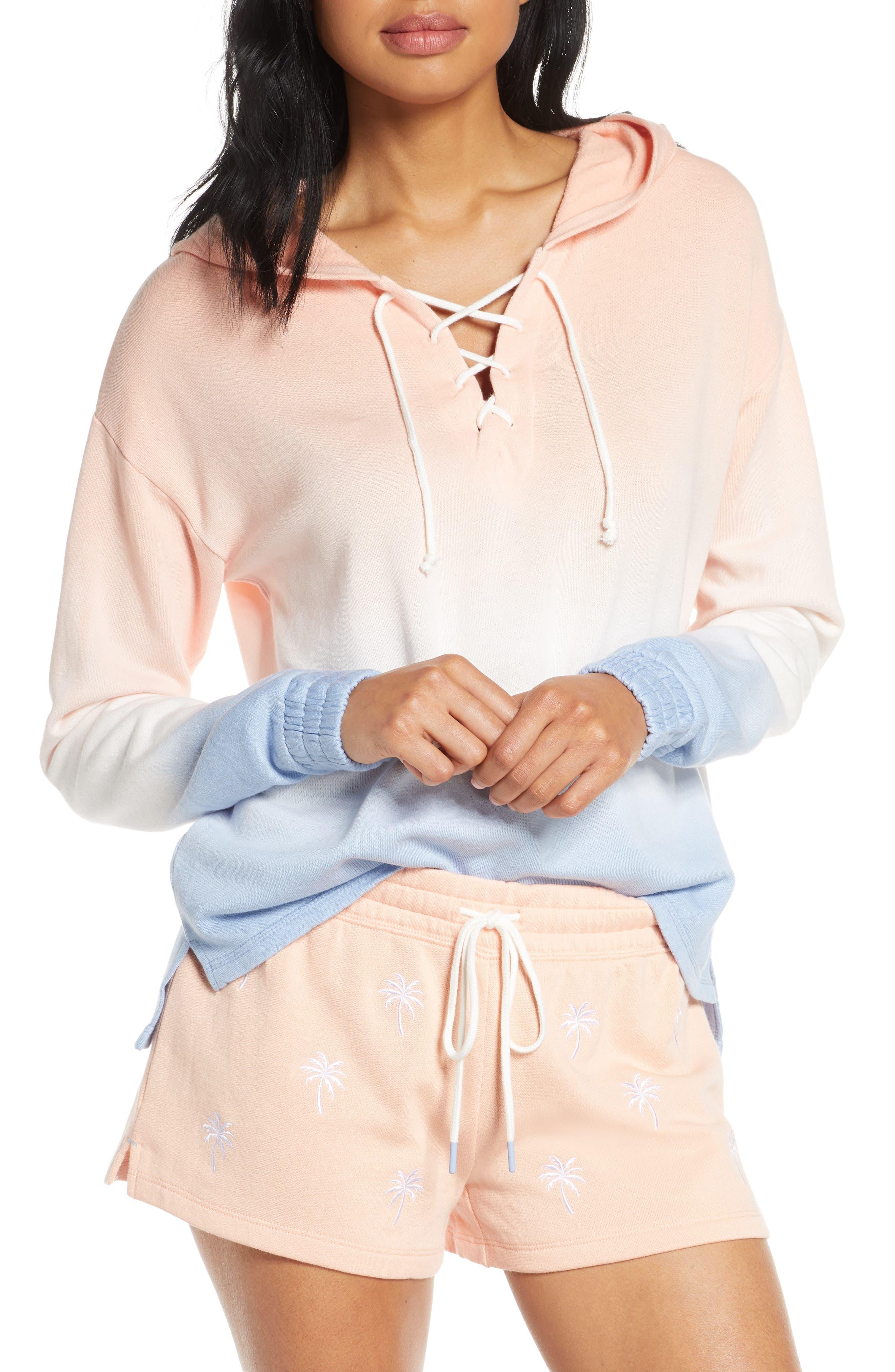 Pj Salvage Salty Days Hooded Sweatshirt, Orange