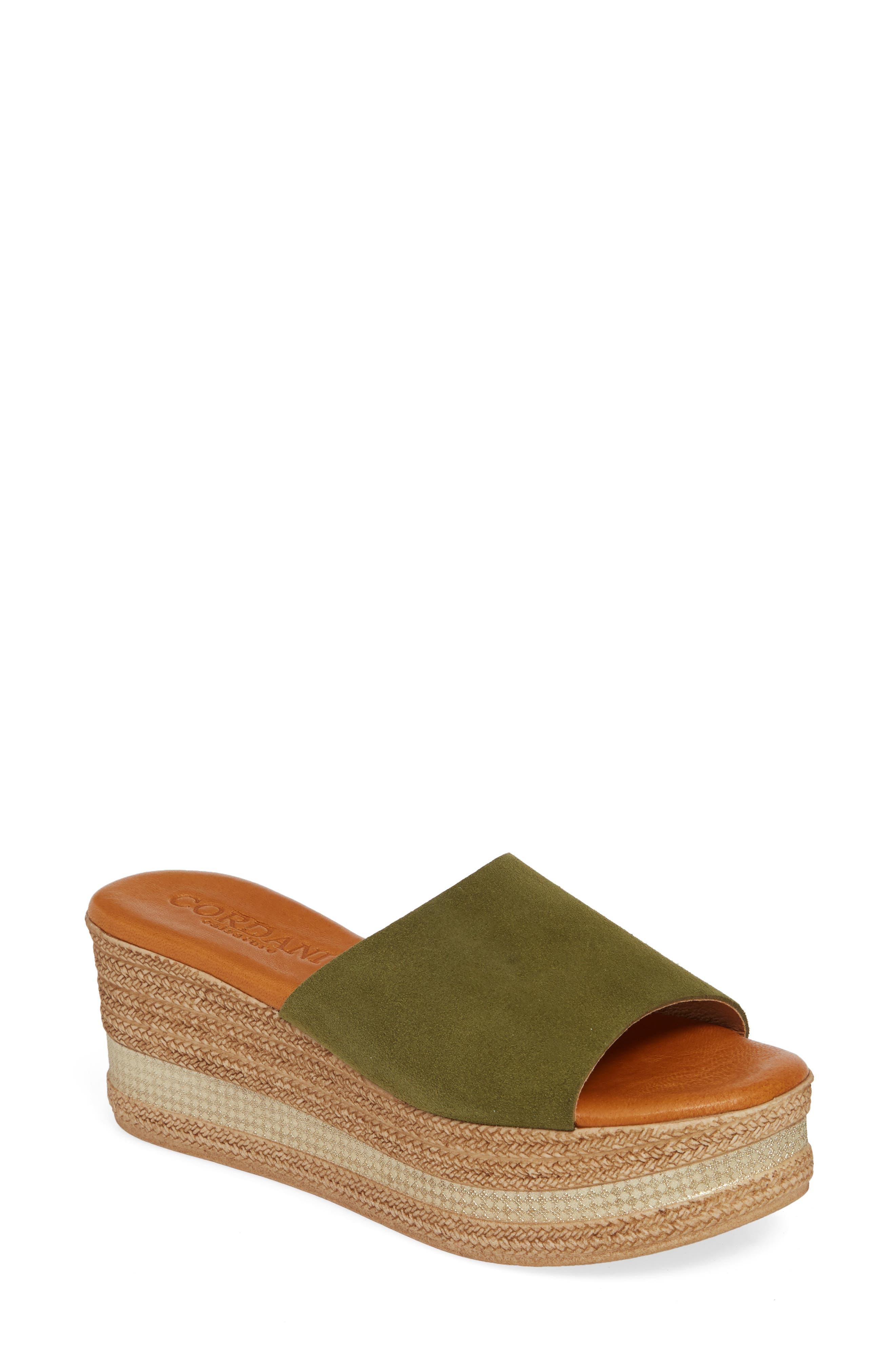 Cordani Barbara Wedge Slide Sandal - Green