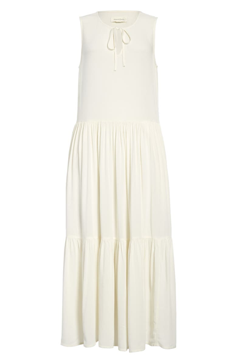 TREASURE & BOND Sleeveless Tiered Midi Dress, Main, color, IVORY