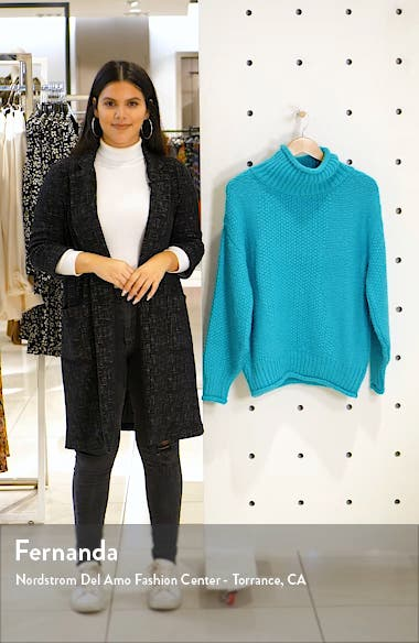 Mixed Stitch Roll Neck Sweater, sales video thumbnail