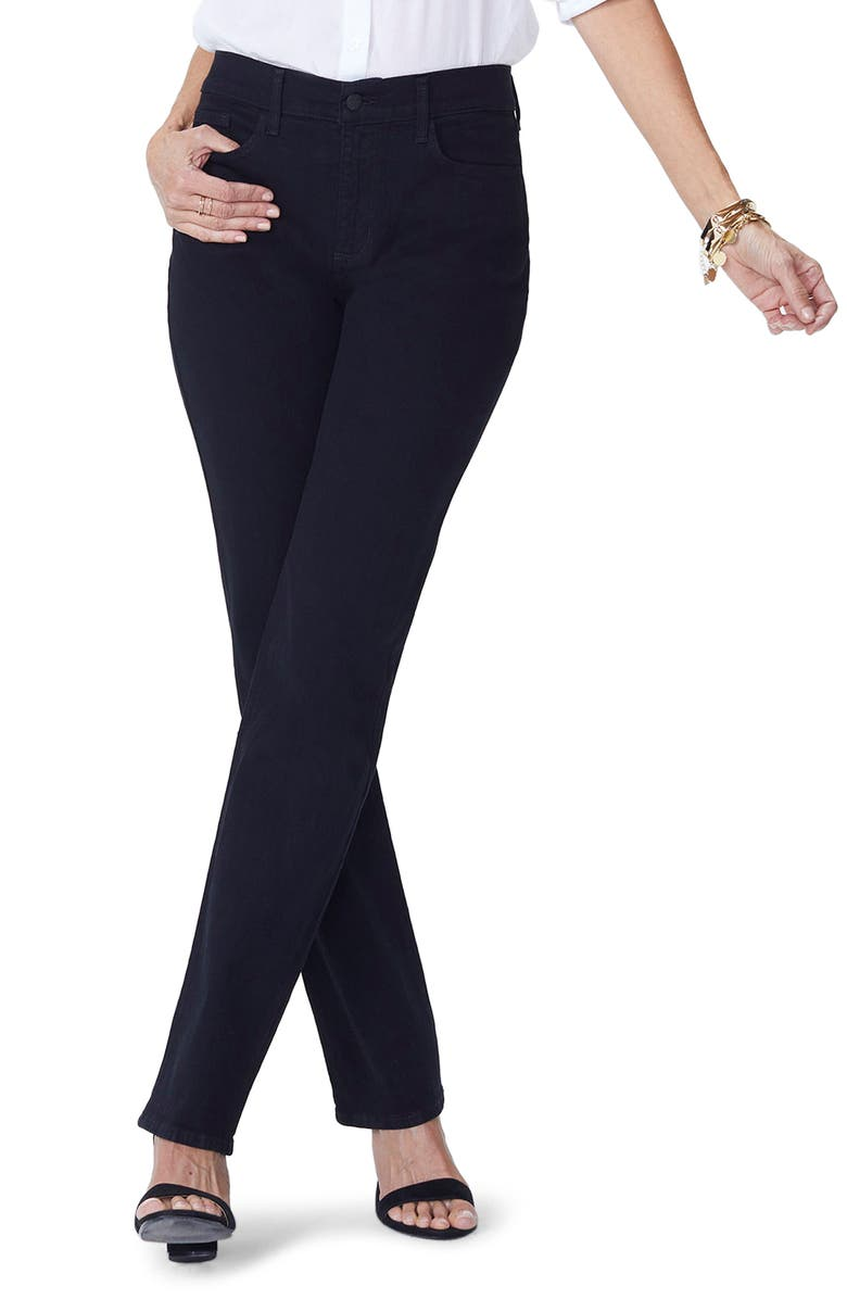 Marilyn Straight Jeans, Main, color, BLACK