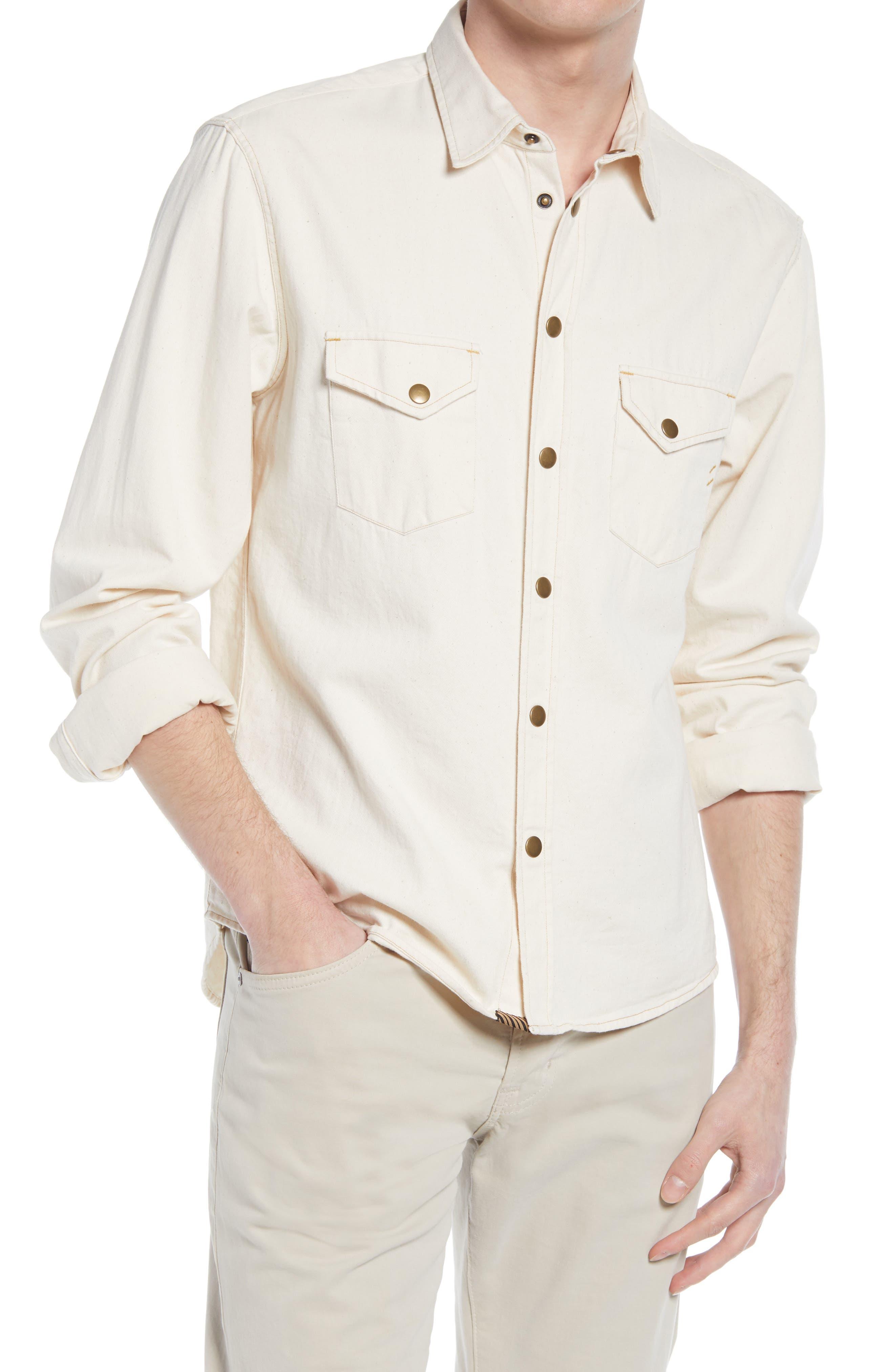 Organic Cotton Denim Button-Up Shirt