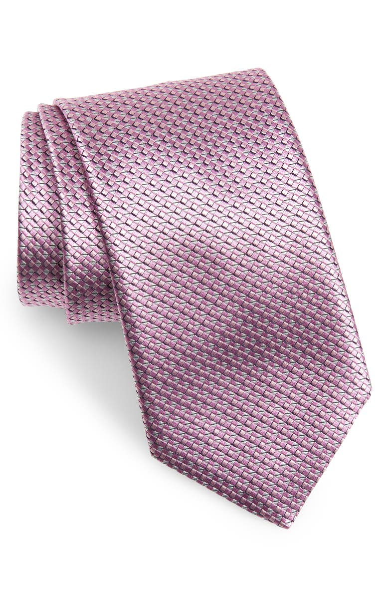 CANALI Geometric Silk X-Long Tie, Main, color, 650
