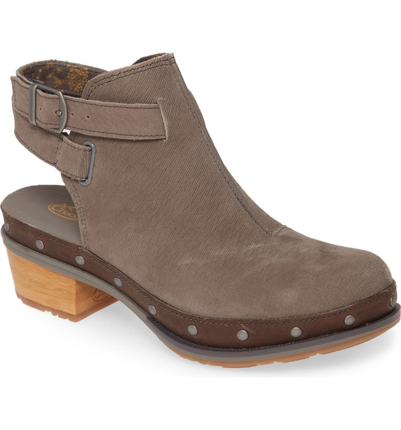CHACO Cataluna Clog Bootie, Main, color, NICKEL LEATHER