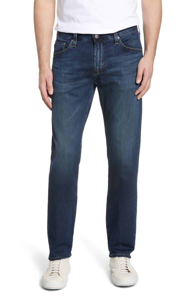 AG Graduate Slim Straight Leg Jeans, Main, color, TRANSIT