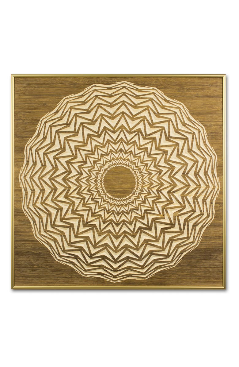 SECTIS DESIGN 4Art Works Radial 18 Wooden Wall Art, Main, color, STAIN