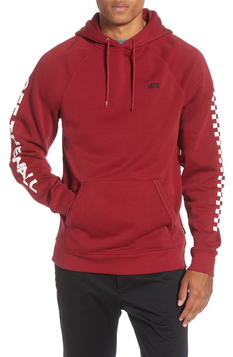 VANS Versa Water Repellent Hoodie, Main, color, BIKING RED