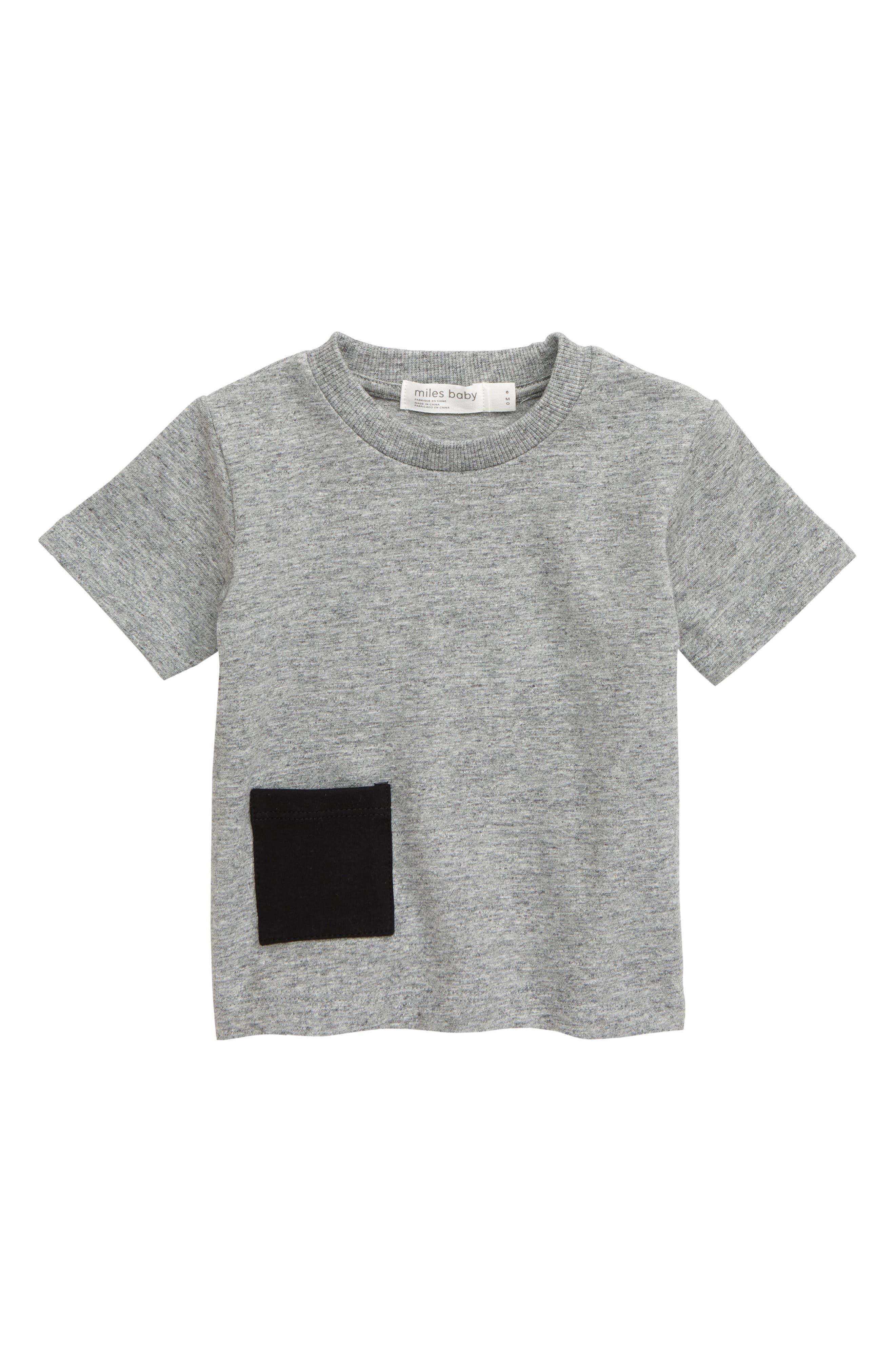 Infant Boys Miles Baby Stretch Organic Cotton TShirt Size 18M  Grey