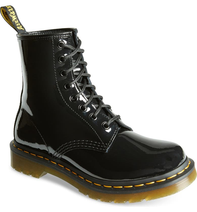 DR. MARTENS '1460' Boot, Main, color, BLACK PATENT LEATHER