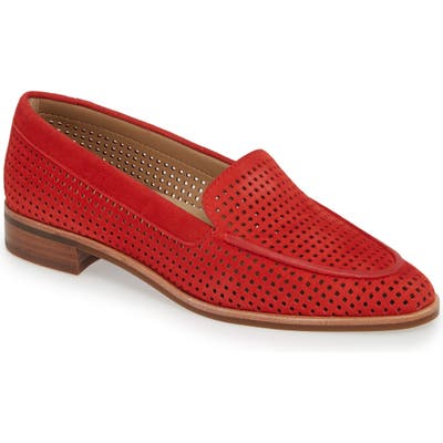 The Flexx Chelsea Peforated Loafer, Red