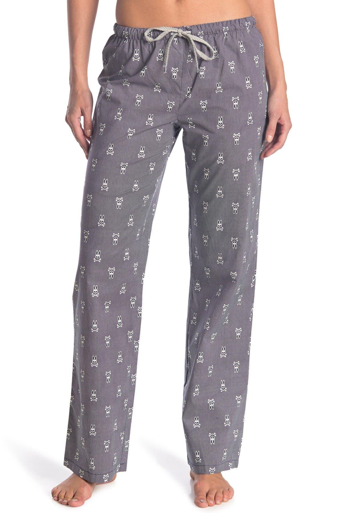 Image of Psycho Bunny Printed Woven Pajama Pants