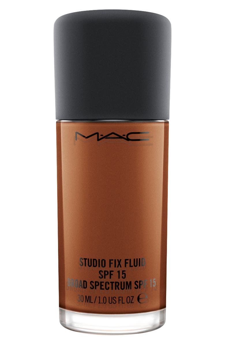 MAC COSMETICS MAC Studio Fix Fluid Foundation SPF 15, Main, color, NW60 DARK ESPRESSO ROSY