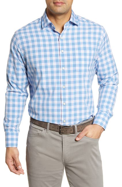 Image of Peter Millar Plaid Regular Fit Sport Shirt