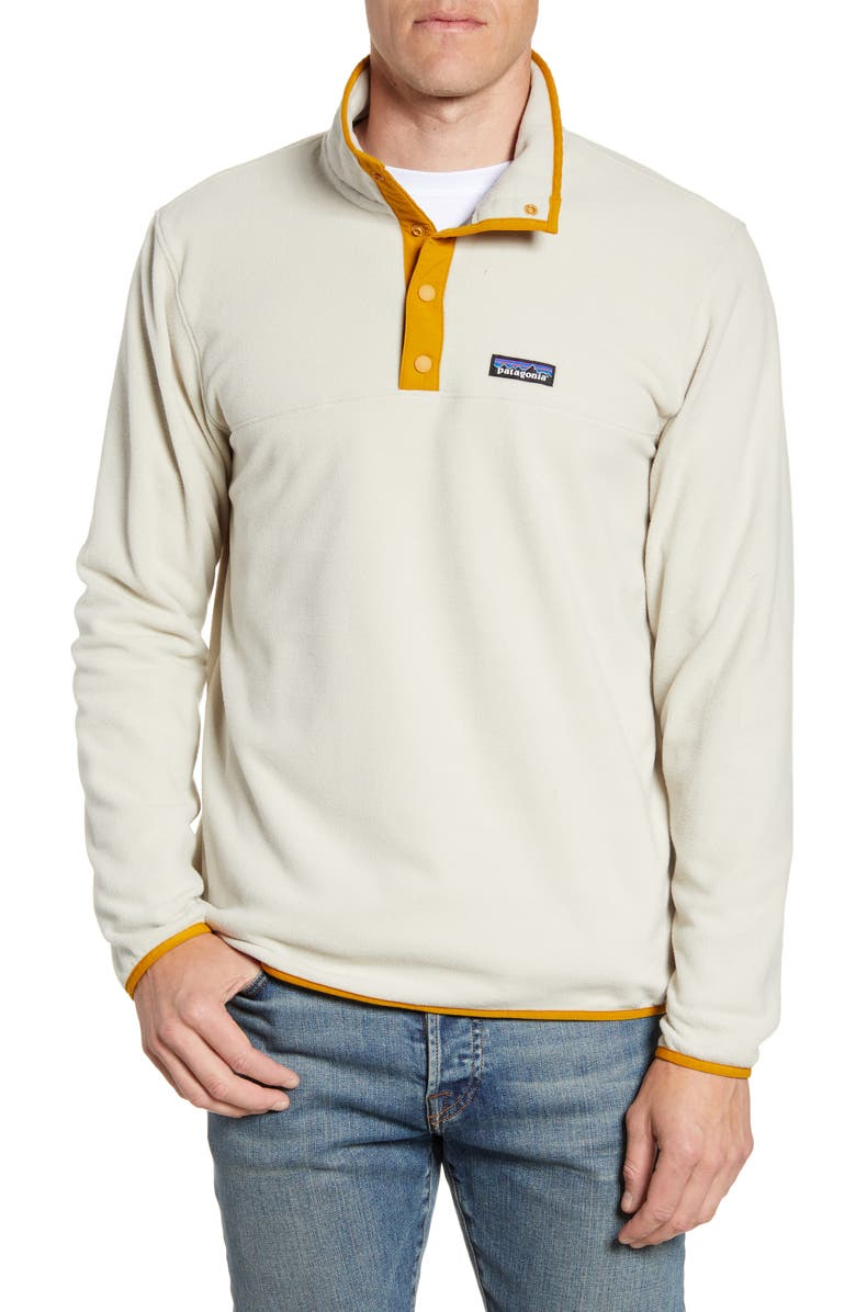 PATAGONIA Micro-D<sup>®</sup> Snap-T<sup>®</sup> Fleece Pullover, Main, color, PELICAN/ WREN GOLD