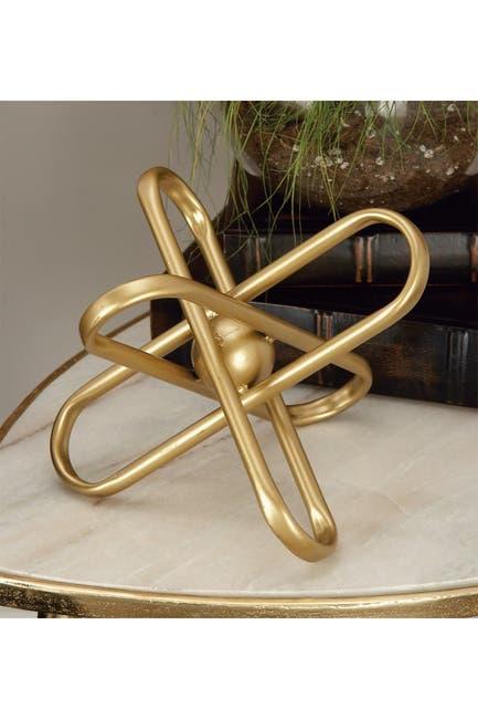 Image of CosmoLiving by Cosmopolitan Gold Modern Atom Sculpture - Set of 2