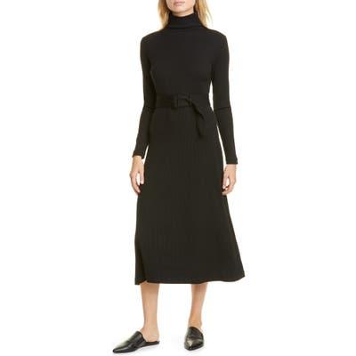 Club Monaco Melissah Knit Long Sleeve Midi Dress, Black