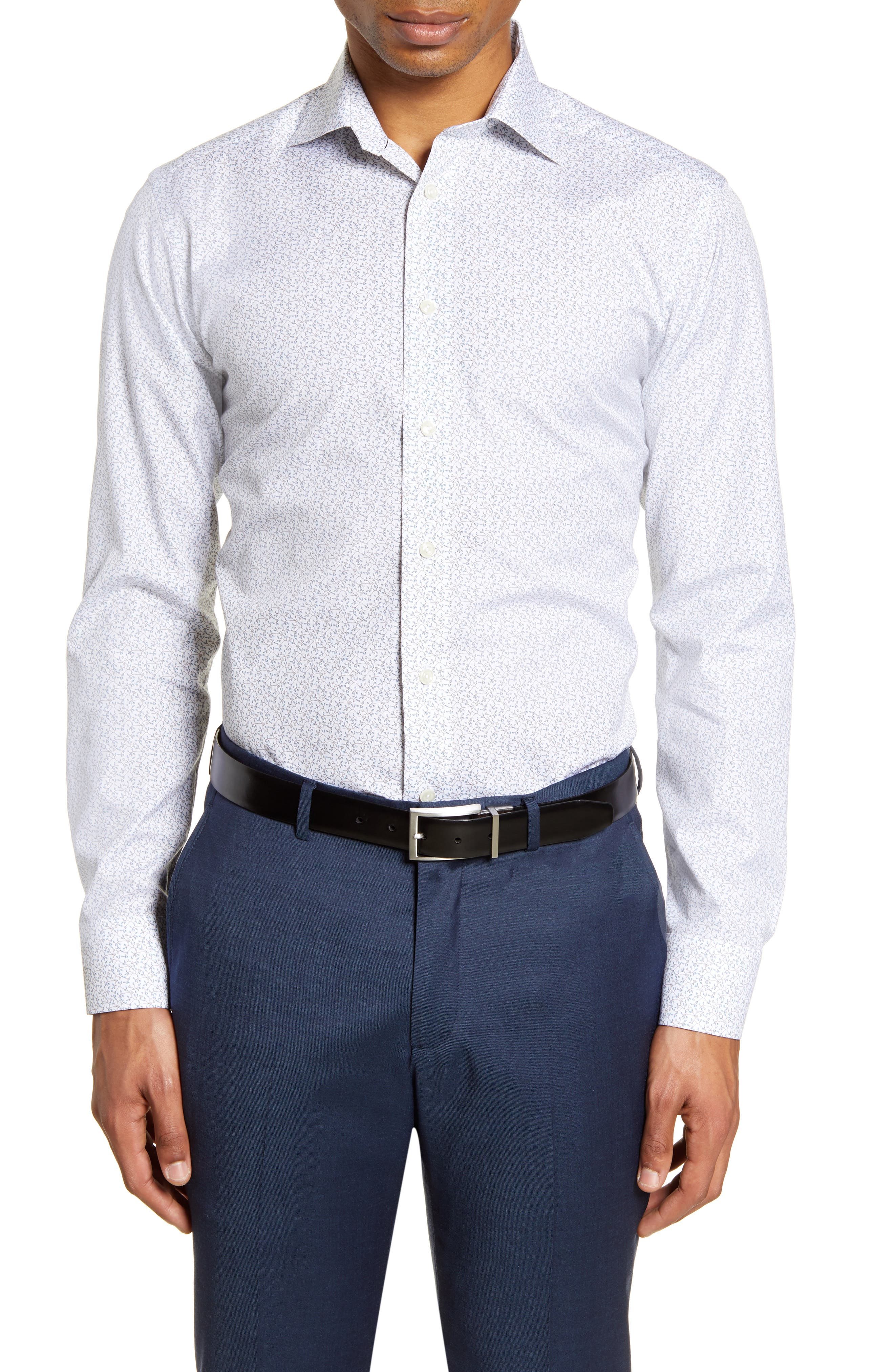 Image of Eton Slim Fit Floral Dress Shirt