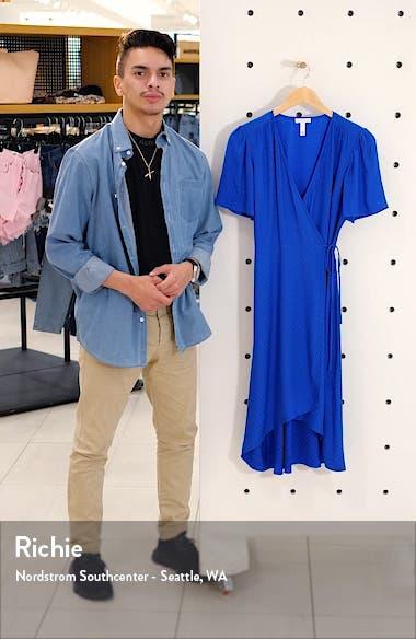Dot Jacquard Satin Wrap Dress, sales video thumbnail