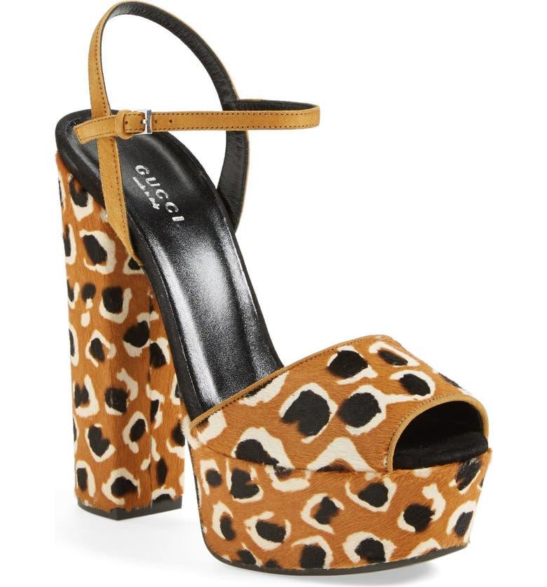 GUCCI 'Claudie' Platform Sandal, Main, color, 200