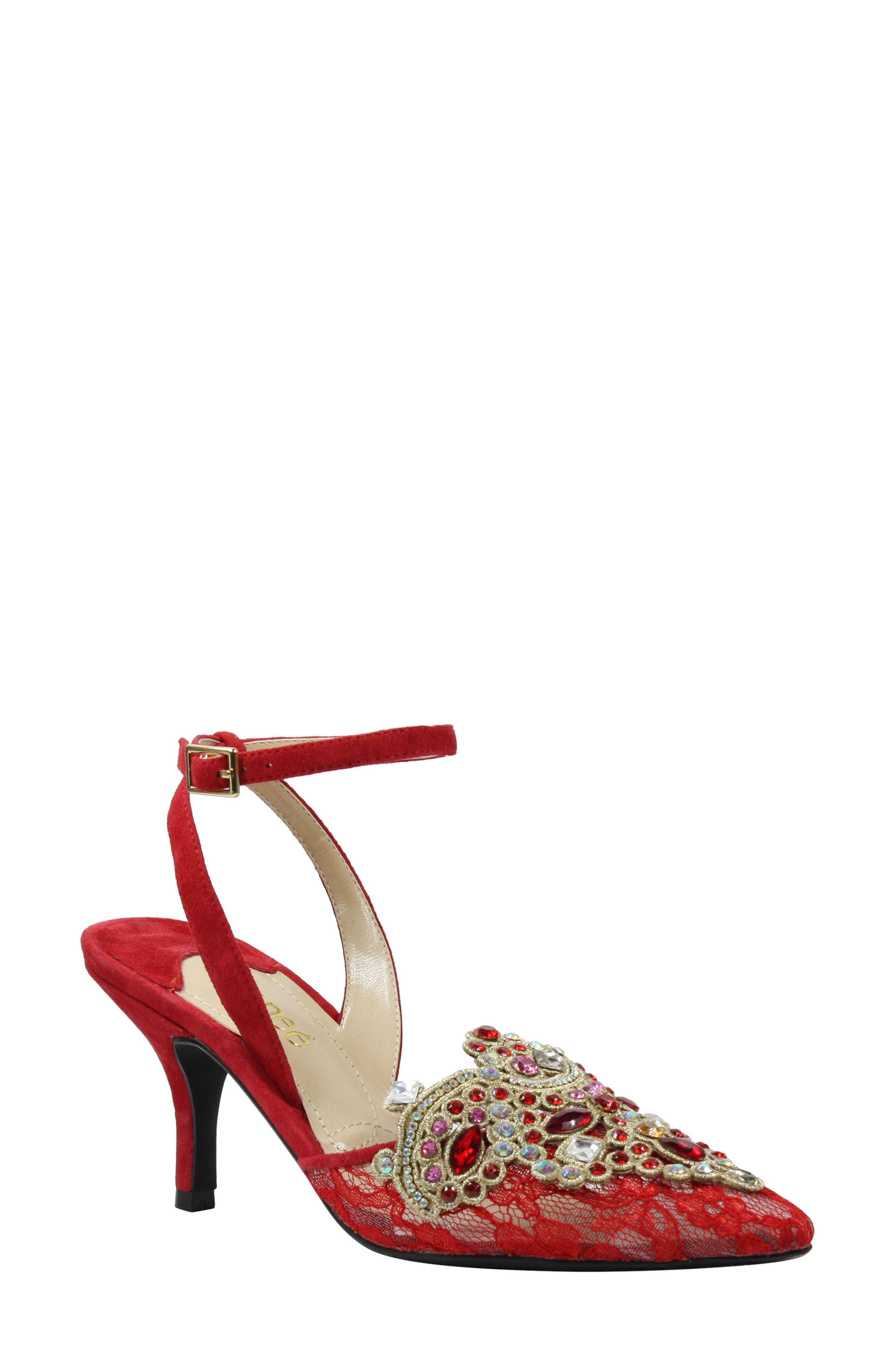 J. Renee Desdemona Embellished Pump B - Red