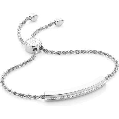 Monica Vinader Engravable Linear Diamond Chain Bracelet