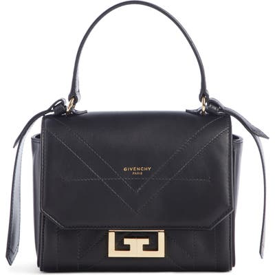 Givenchy Mini Eden Leather Top Handle Bag - Black