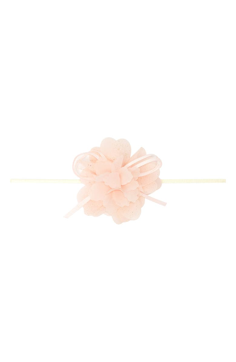 PLH BOWS Organza Butterfly Headband, Main, color, LIGHT PINK