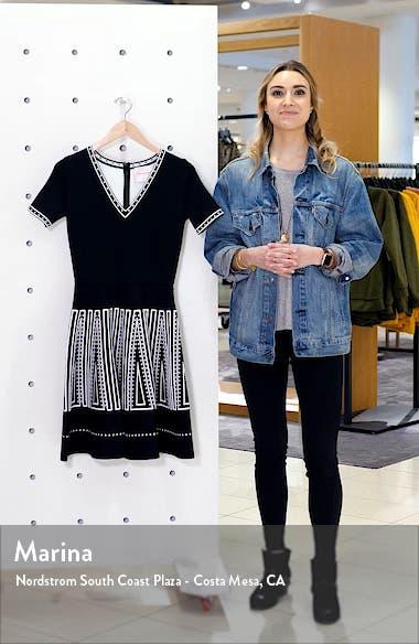 Jacquard Fit & Flare Sweater Dress, sales video thumbnail