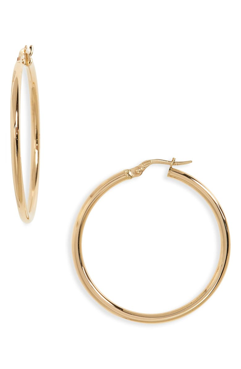ROBERTO COIN 35mm Gold Hoop Earrings, Main, color, 710