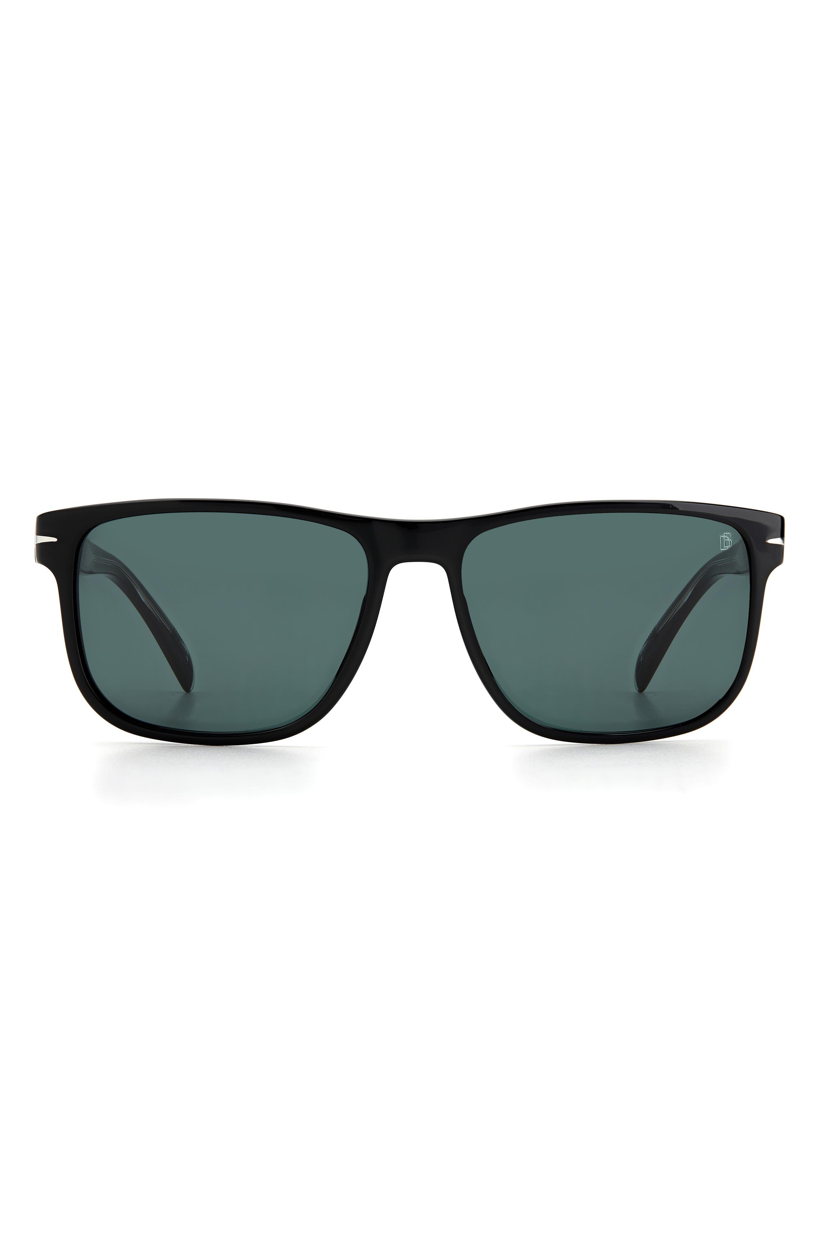 Men's David Beckham 57mm International Fit Square Sunglasses