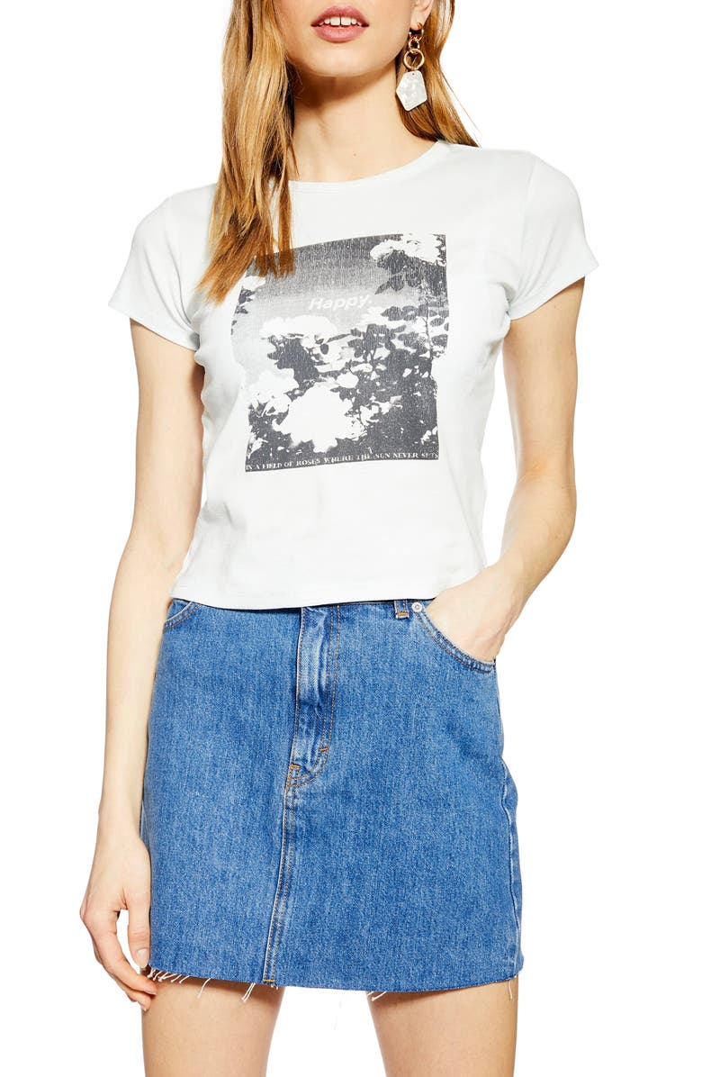 TOPSHOP Photographic Tee, Main, color, 100