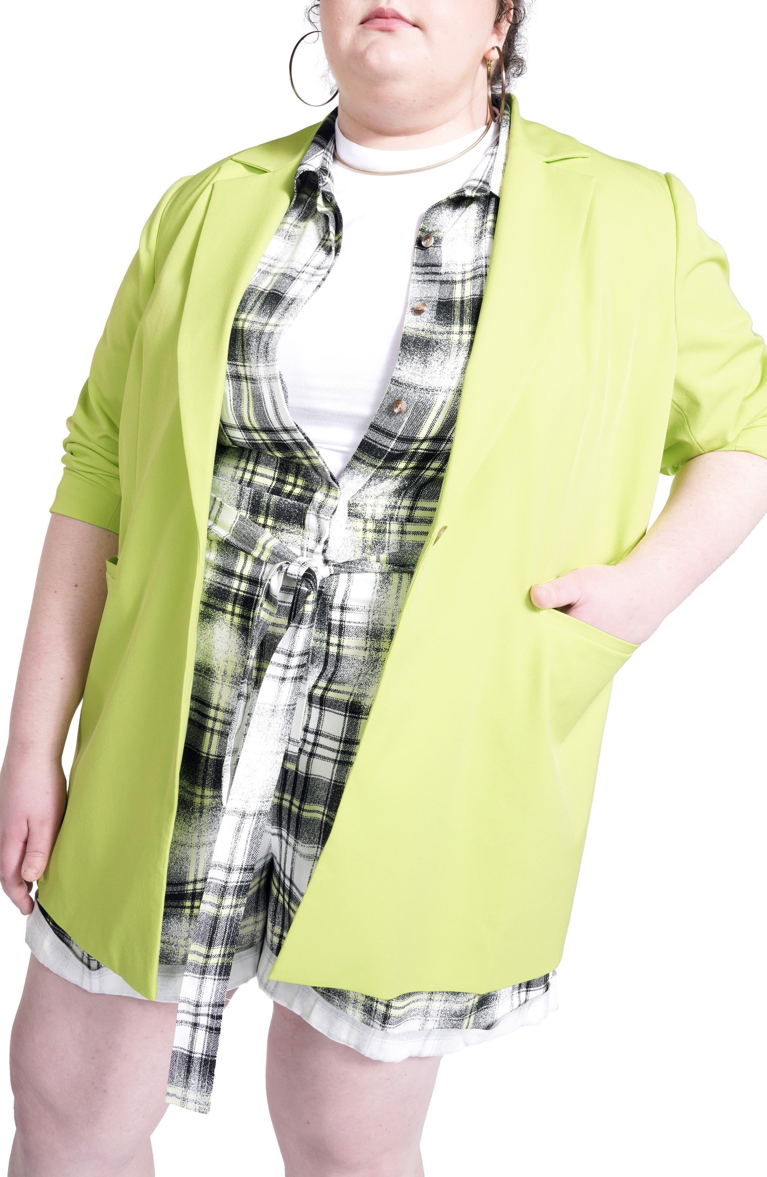 Women's Bp. + Wildfang Neon One-Button Blazer