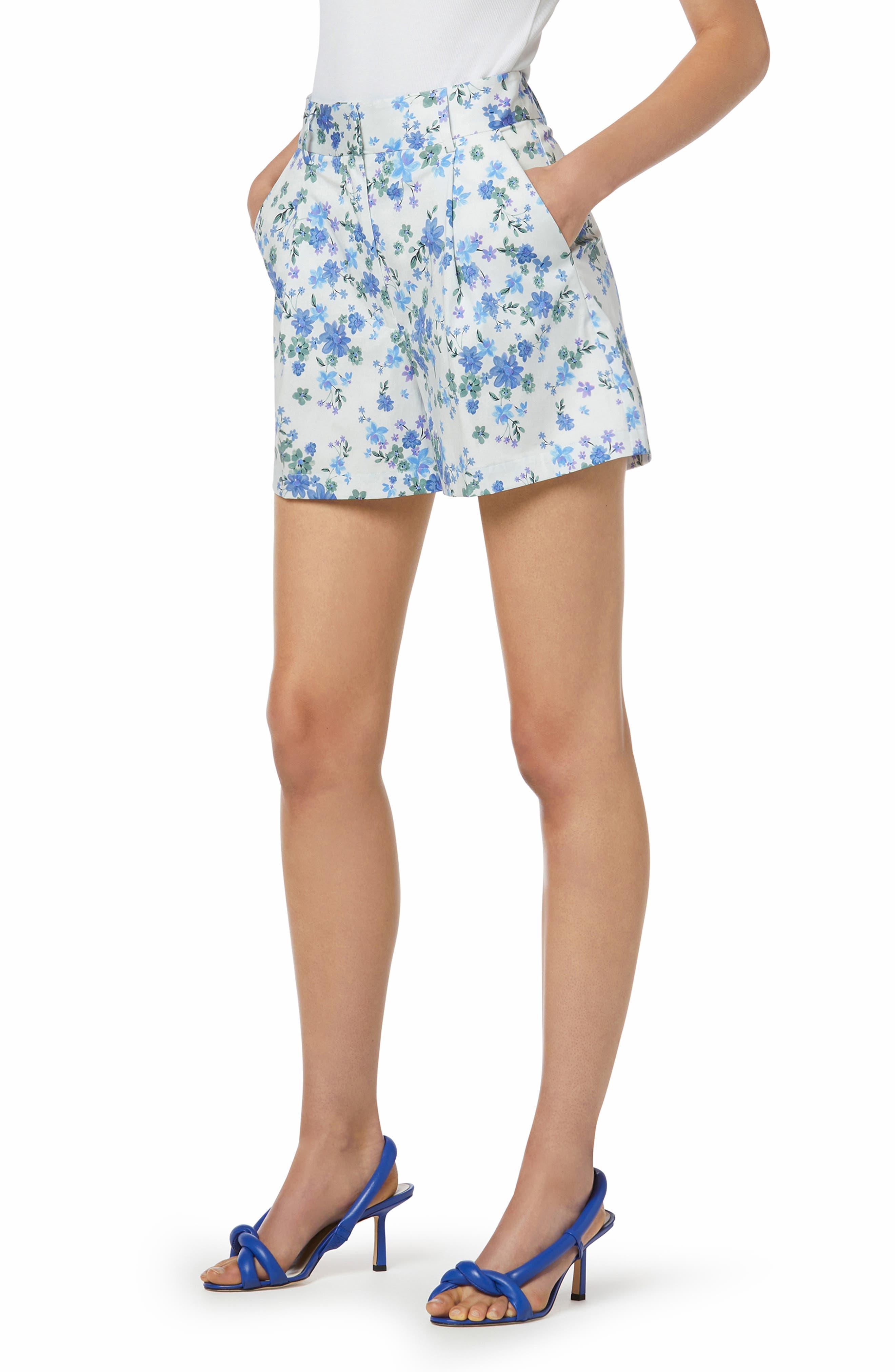 The Lemon Tree Floral Stretch Cotton Shorts