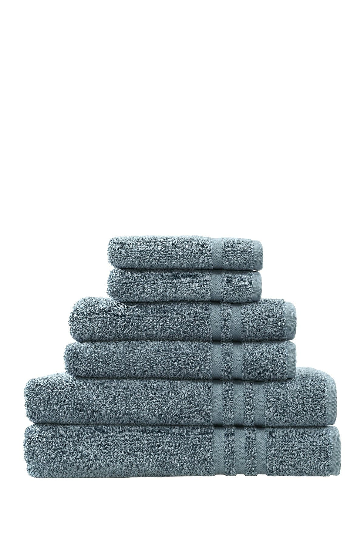 Image of LINUM HOME Denzi 6-Piece Towel Set - Denzi Blue
