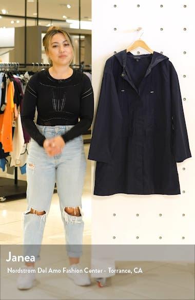 Hooded Long Organic Cotton Blend Jacket, sales video thumbnail