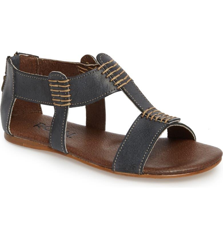 ROAN Jocelyn T-Strap Flat Sandal, Main, color, 002