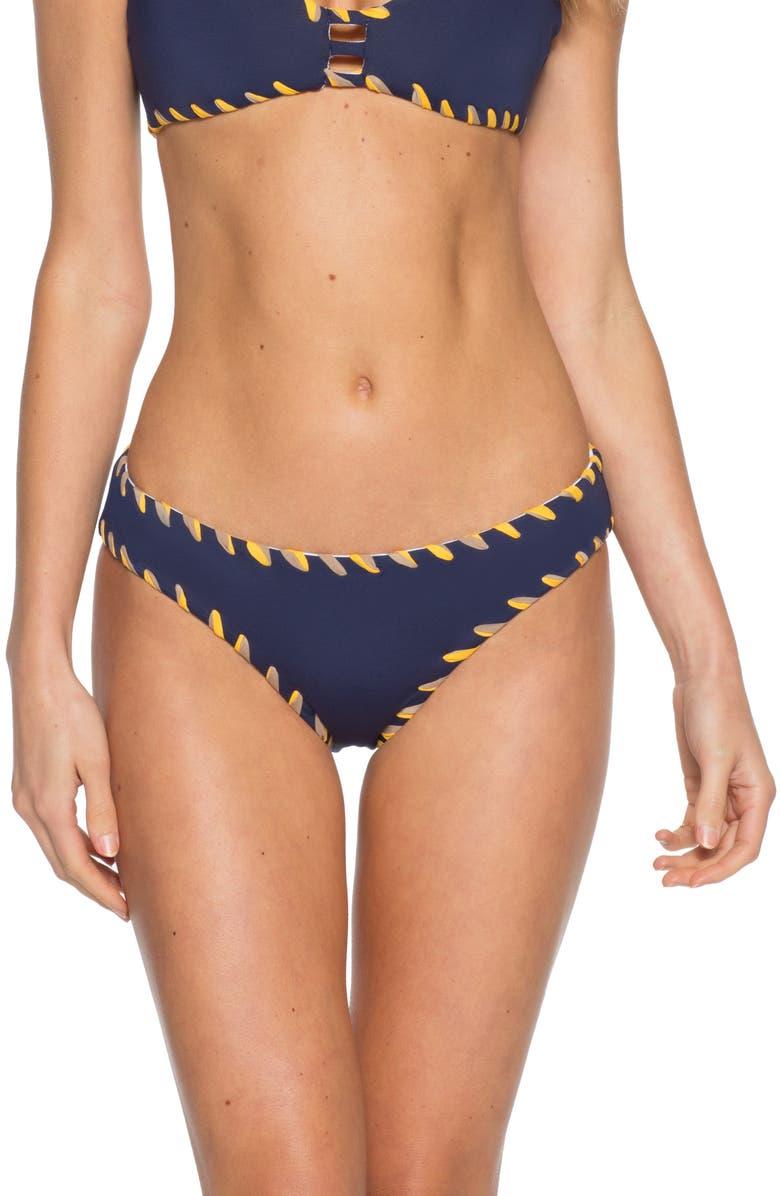 BECCA Camille Reversible Bikini Bottoms, Main, color, NAVY