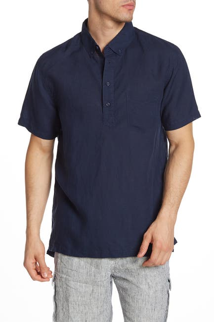 Image of Onia Josh Short Sleeve Henley Shirt