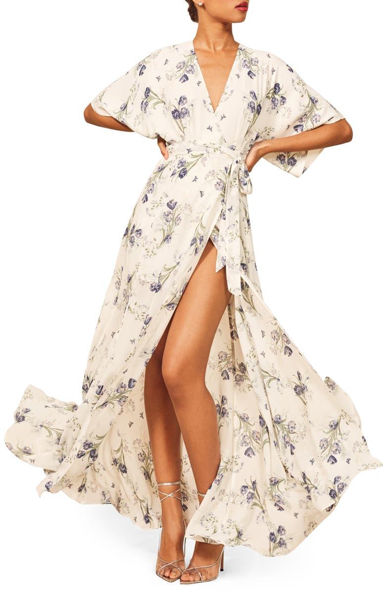 REFORMATION Winslow Maxi Dress, Main, color, 101