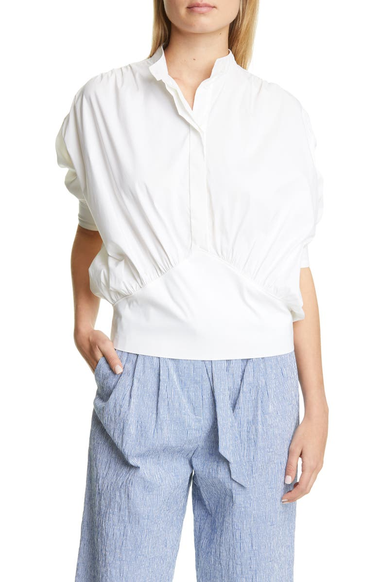 BY ANY OTHER NAME Cotton Poplin Cummerbund Top, Main, color, 100