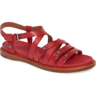 Frye Andora Strappy Sandal, Red
