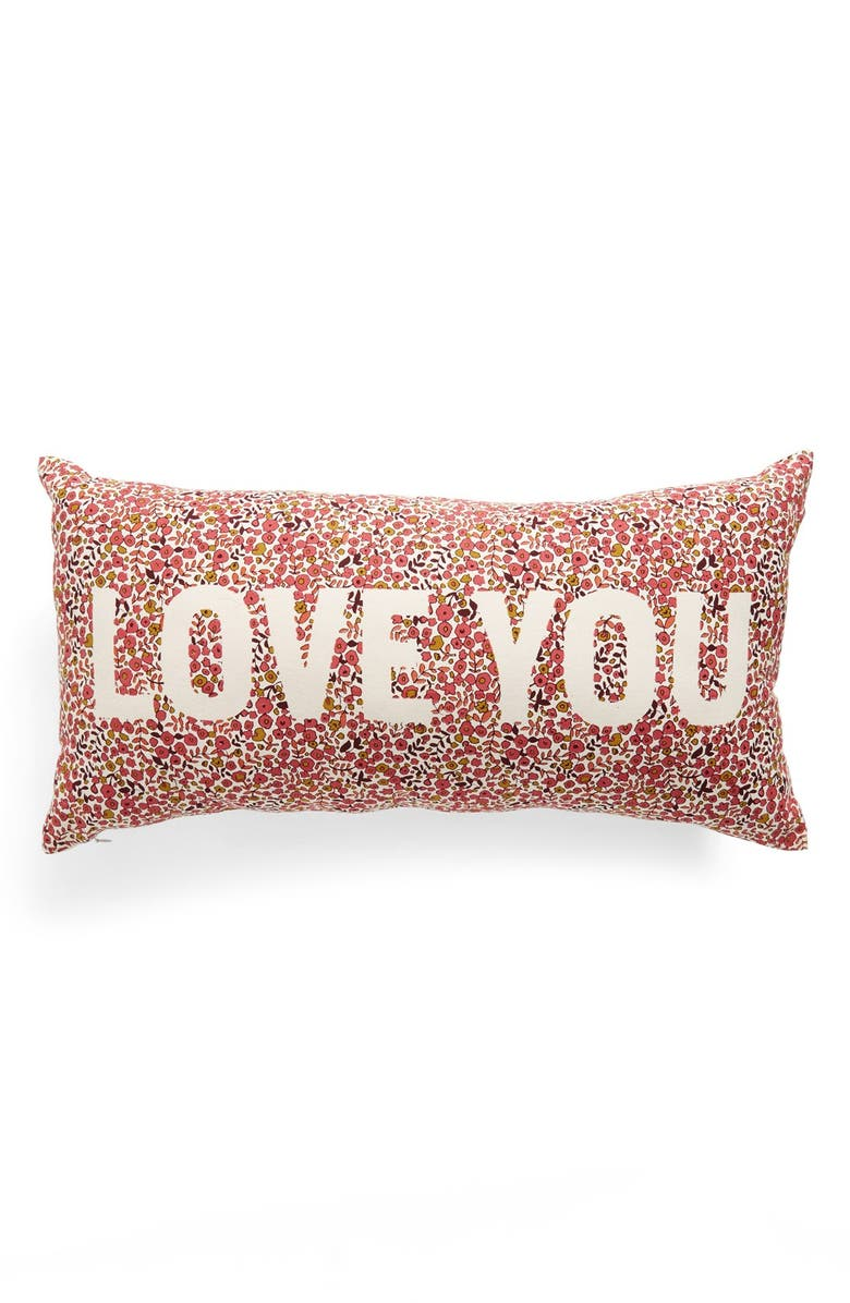 NORDSTROM AT HOME 'Love You' Pillow, Main, color, 650