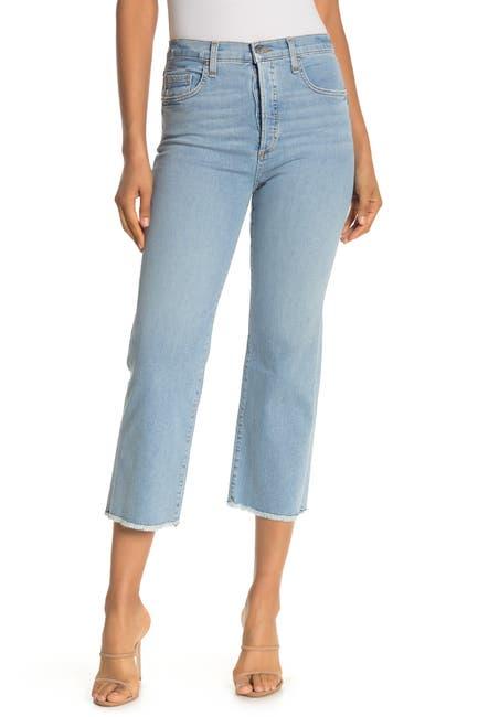 Image of VERONICA BEARD Rockwell High Rise Straight Leg Jeans