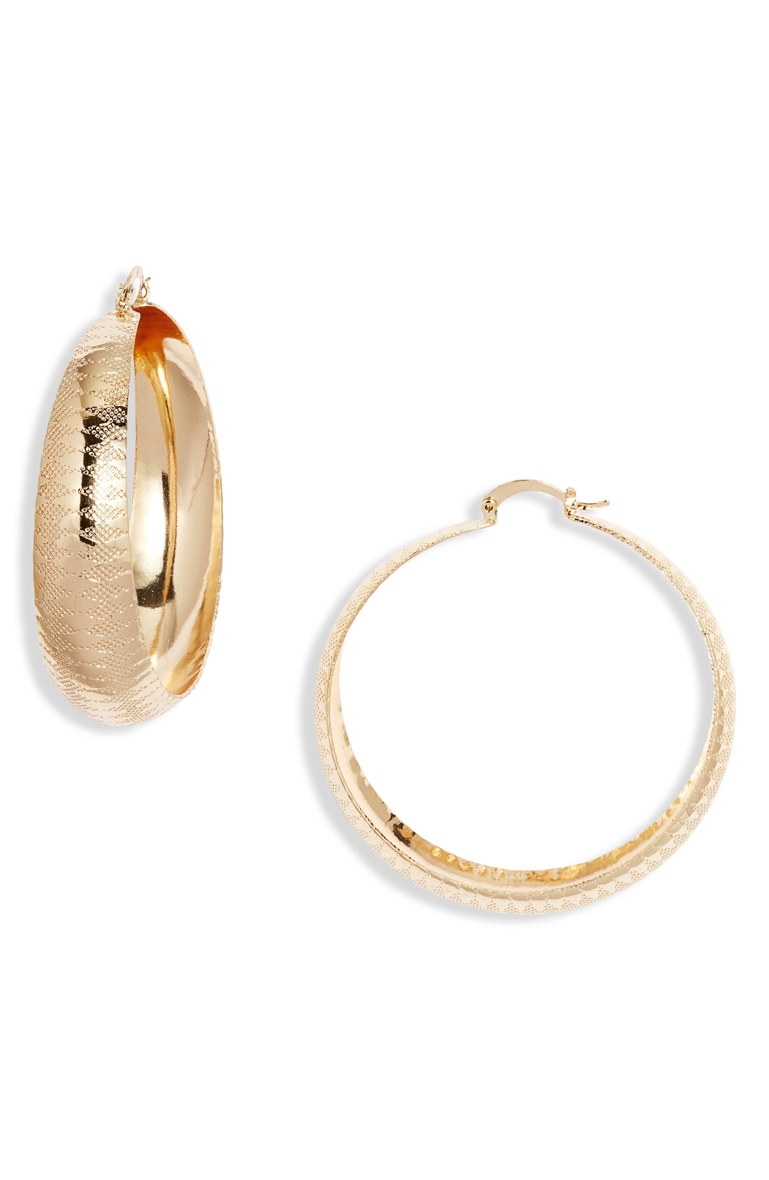 Classic Textured Hoop Earrings