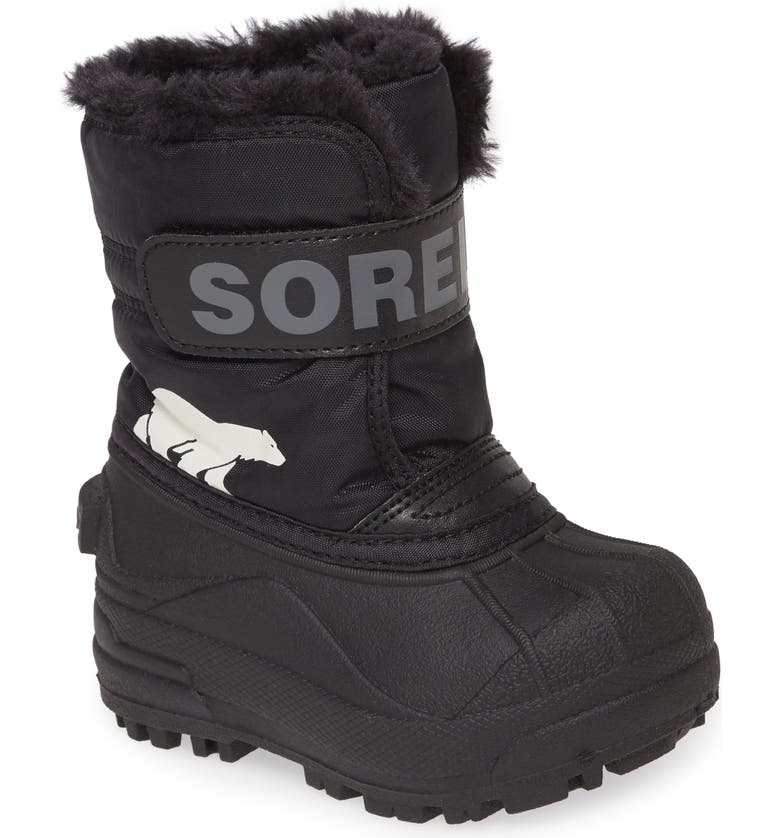 SOREL Snow Commander Insulated Waterproof Boot, Main, color, BLACK
